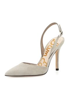 Dora Suede Slingback Pump, Winter Sky by Sam Edelman at Neiman Marcus.