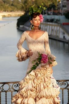 Robe de soiree style flamenco