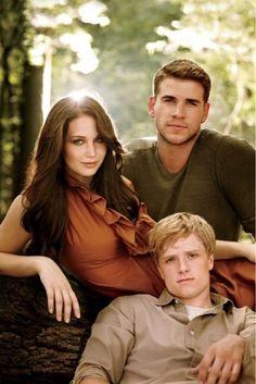 Katniss, Peeta, and Gale