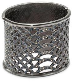 Judith Leiber Jewelry Python Pattern and Swarovski Pave Crystal Cuff Bracelet Judith Leiber Jewelry http://www.amazon.com/dp/B009VH77QI/ref=cm_sw_r_pi_dp_HJJgub1WEWW0Z