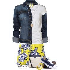 Floral and Denim by kelley74 on Polyvore featuring AllSaints, MANGO, Tory Burch, Bee Charming, Lane Bryant, Kate Spade and Converse