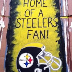 Steelers slate Slate, Hand Painted, Door Hangers, Projects, Crafts, Painting, Windows, Patterns, Home Decor