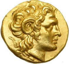 Kingdom of Thrace. Lysimachos, 323-281 BC. Gold Stater (8.47 g) possibly minted at Lysimachia, c. 297-281 BC. EF Diademed head right of the deified Alexander the Great wearing the horn of Ammon above ear. Athena Nikephoros enthroned left, holding Nike in her extended right hand, resting left elbow on shield with aegis. Cf. Thompson 8, 10 for adjunct marks. A couple light marks on edge. Estimated Value $5,000 - 6,000. #Coins #Gold #Ancient #MADonC