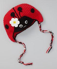 Love this Red & Black Ladybug Beanie by chéri by Bébé Oh La La on #zulily! #zulilyfinds