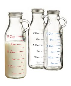This Measuring Milk Bottle Glass - Set of Three by Jay Import is perfect! #zulilyfinds