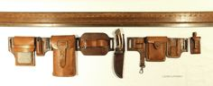 Interchangeable Belt Set.  From city tours, to expeditions.  Designed and made by Leon Litinsky