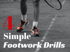 Check out these 4 simple and extremely effective footwork drills! #tennis#tennisdrills#tennisfootworkdrills