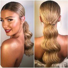 Elegant Waved Ponytail for Elegant Ponytail Hairstyles