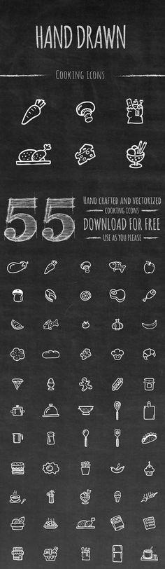 Ressources – 50 icônes cooking faites à la main