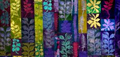 """Carol LeBaron, """"Spring Growth."""" Carol will teach a workshop on shibori with acid dyes this October 18-24, 2015 in the Penland textile studio. More info: http://penland.org/classes/fall/fall_1B.html"""