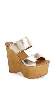 Steve Madden 'Mikkaa' Wedge Sandal (Women) available at #Nordstrom