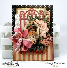 G45-May Art Ribbon Blog Hop Ladies Diary Cards by Ginny #graphic45