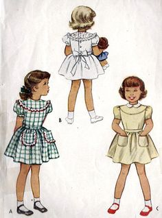 1940s Girls Dress Vintage Sewing Pattern Peter by MissBettysAttic, $8.00  Yes!