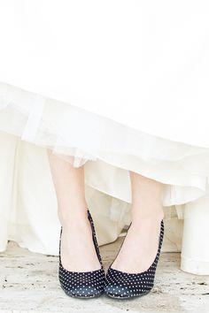 polka dot wedding shoes!