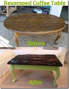 how to diy an old coffee table with paint. anyone can do