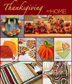 Thanksgiving for the Home Thanksgiving Crochet, Holiday Crochet, Crochet Christmas Ornaments, Christmas Crafts, Crochet Fall Decor, Autumn Crochet, Knitting Projects, Crochet Projects, Crochet Crafts