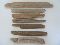 7 Flat Driftwood Pieces Destination Tree by LonelyBeach on Etsy