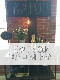 How I Stock Our Home Bar   Red Autumn Co.