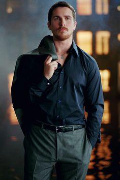 Name: Sharon I love anything Bruce Wayne/Batman, Christian Bale or Nolan. Chris Bale, Divas, Batman, Christian Bale, Celebrity Portraits, Raining Men, Male Beauty, Stylish Men, Beautiful Men