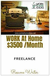 Freelance Resume Writer Work At Home Job Earn 3500 Month
