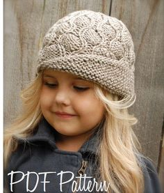 Harmony Cloche' Knitting pattern by The Velvet Acorn Velvet Acorn, Baby Hats Knitting, Knitted Hats, Sombrero A Crochet, Knitting Patterns, Crochet Patterns, Knit Crochet, Crochet Hats, Paintbox Yarn