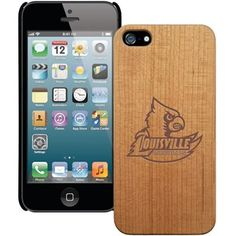 Louisville Cardinals Wooden iPhone 5 Primary Case