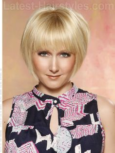Mod blonde medium length hairstyle