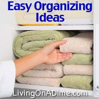 Have you ever wondered why organizing seems so easy for some people but not for others? Try these 9 easy organizing ideas and learn that the secrets of the organized are easier than you thought! click here to get organized today! http://www.livingonadime.com/easy-organizing-ideas-secrets/