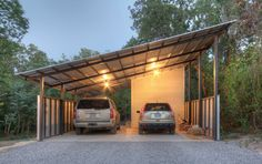 Home in the Woods - industrial - Garage And Shed - Dallas - Wintersole Architecture