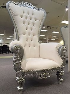 6 Ft. Tall Throne Chair French Baroque Wedding Bride Groom Throne Chairs High Back Chair Hotel Lounge Chair Bar Chair Throne Chair Furniture Victorian Style Chair (White & Silver) Victorian Collection http://www.amazon.com/dp/B019AZTPHE/ref=cm_sw_r_pi_dp_r-.Bwb0AH3YV3