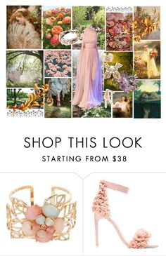 """""""Persephone, Spring Goddess"""" by alptraum ❤ liked on Polyvore featuring WALL, Elie Saab, Gemma Simone, Jeffrey Campbell and Roberto Cavalli"""