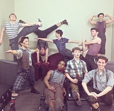 """New favorite picture of the toursies!!! They're""""stretching and flexing."""""""