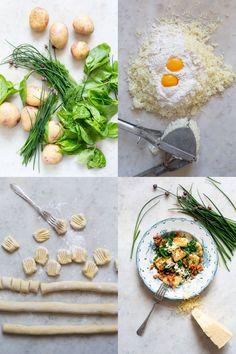 Vårgrön gnocchi - vardagskalas | Skog till bord | Katarina Ekeström Gnocchi, Camembert Cheese, Bacon, Food, Meal, Hoods, Pork Belly, Eten, Meals