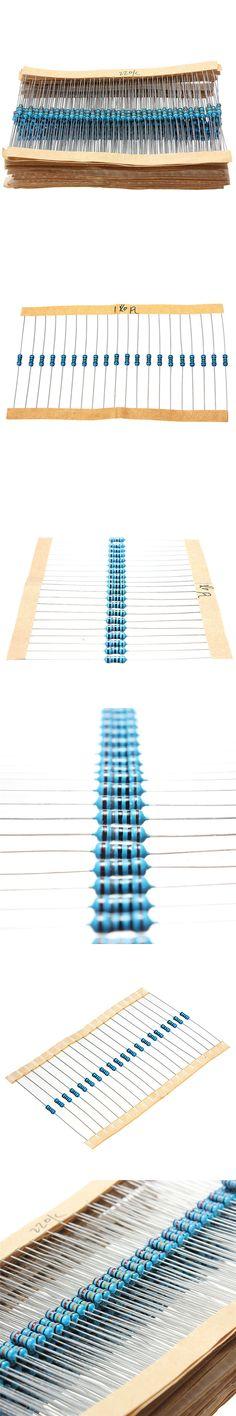 1280pcs Resistor Kit 0.25W 64values X 20pcs Resistencias Resistor Pack Metal Film Resistance 1 Ohm - 10M Ohm 1/4W Metal Film Set