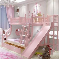 Are you looking for latest kids bedroom? Here are more than 50 exellent kids bedroom ideas . boys and girls, twins, with toys storage, cabinets, bunk bed Cute Bedroom Ideas, Girl Bedroom Designs, Awesome Bedrooms, Cool Rooms, Bed Ideas, Kids Bedroom Ideas For Girls, Baby Girl Bedroom Ideas, Toddler Bedroom Ideas, Bunk Bed Designs