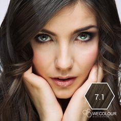 Haarverf as donkerblond van WECOLOUR, haarkleur 7.1, is een prachtige as donkerblonde haarkleur. * geen verzendkosten * na opening houdbaar * zo puur mogelijk. As