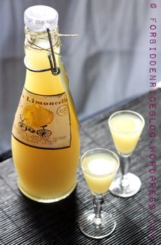 Homemade limoncello.  Add some cream or Italian milk to make it even more delicious.  But drink carefully! :)