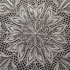 Lace Knitting: Like Making A Paper Snowflake   KnitFreedom -- Herbert Niebling's Lyra is a perfect example of the stunning projects you can make with lace * Lyra on Amazon: http://www.amazon.com/Lyra-Knitted-Pattern-Herbert-Niebling/dp/B00KY3JAA4 * Lyra on Ravelry: http://www.ravelry.com/patterns/library/lyra