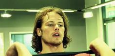 Fans of Sam Heughan Sam working out in the My Peak video. Thanks to @chattangypsy for snagging such a clear screencap!