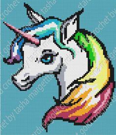 Unicorn Rainbow Graphgan, Tunisian Crochet, Single Crochet Crochet pattern by Stardust Gold Crochet Crochet C2c, Crochet Gratis, Rainbow Crochet, Love Crochet, Single Crochet, Crochet Round, Chunky Crochet, Crochet Toys, Crochet Stitches