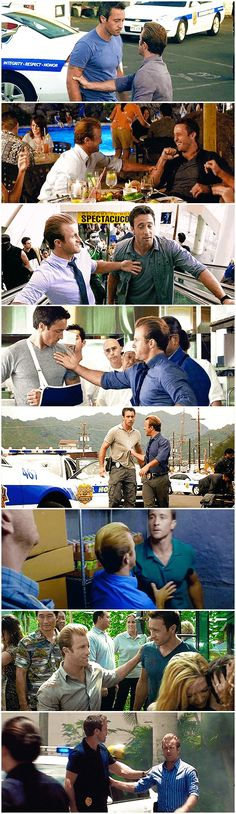 they are always touching each other. /// #danny williams#steve mcgarrett#h50…