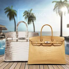Hermès Birkin Himalayan in Blanc Crocodile Leather and Palladium Hardware | Size 25 cm | Available Now  Hermès Birkin in Parchemin Beige Porosus Crocodile Leather and Palladium Hardware | Size 35 cm | Available Now  For purchase inquiries, please contact sales@shayyaka.com or +961 71 594 777 (SMS, WhatsApp, or iMessage) or Direct Message on Instagram (@Shayyaka). Guaranteed 100% Authentic / Worldwide Shipping / Bank Transfer or Credit Card