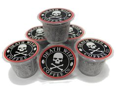 Death Cups by Death Wish Coffee, The World's Strongest Single Serve Coffee Capsule  - £15.00
