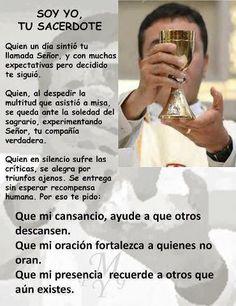 Resultado de imagen para mensaje sacerdote dias del buen pastor Spanish Prayers, College Quotes, One Wish, Love You, My Love, Jesus Christ, Catholic, Labor, Google
