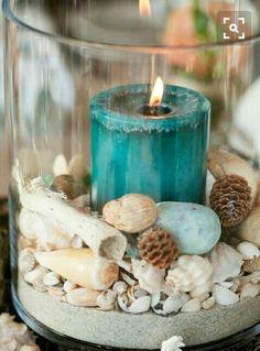 Un romantico centrotavola perfetto per un matrimonio in tema mare!