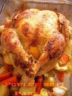 Perfect roast chicken from Jamie Oliver - volailles - Roasted Vegetarian Crockpot Recipes, Healthy Breakfast Recipes, Easy Dinner Recipes, Healthy Recipes, Chefs, Perfect Roast Chicken, Best Mexican Recipes, Hawaiian Recipes, Cuban Recipes