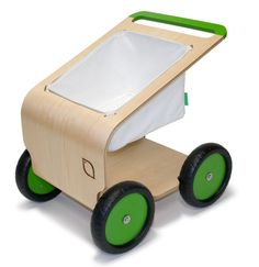 Possibly the coolest push toy ever. Perfect for all of their little treasures...oh yeah, and groceries too.