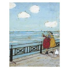 Sam Toft - Her Favourite Cloud, Box Frame Canvas, 50 x 40 cm