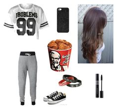 """""""KFC"""" by zendaya090 ❤ liked on Polyvore featuring Converse and BaubleBar"""