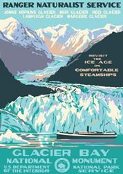 Glacier Bay National Monument Vintage Poster (Ranger Naturalist Service Series) in the Discover Your Northwest Online Store